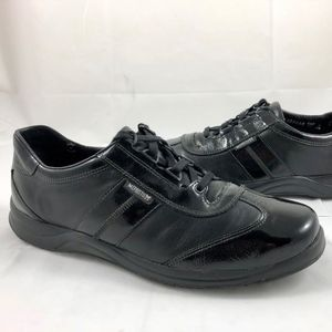 Mephisto Laser Patent Leather Lace Sneakers $225